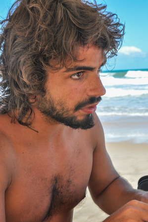 29435937 - young hairy male at brazil.argentinean male. beard. latin american culture.