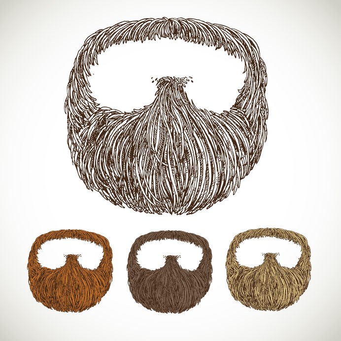23149564 - neat beard in color variations